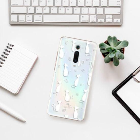 iSaprio Cat pattern 05 - white műanyag tok Xiaomi Mi 9T Pro