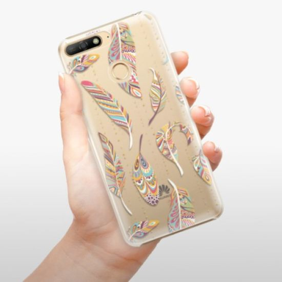 iSaprio Plastikowa obudowa - Feather pattern 02 na Huawei Y6 Prime 2018