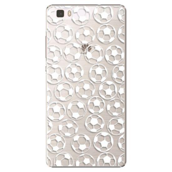 iSaprio Plastikowa obudowa - Football pattern - white na Huawei P8 Lite
