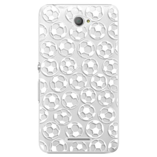 iSaprio Plastový kryt - Football pattern - white pro Sony Xperia E4