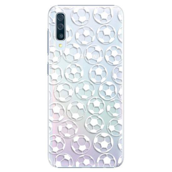 iSaprio Plastikowa obudowa - Football pattern - white na Samsung Galaxy A50