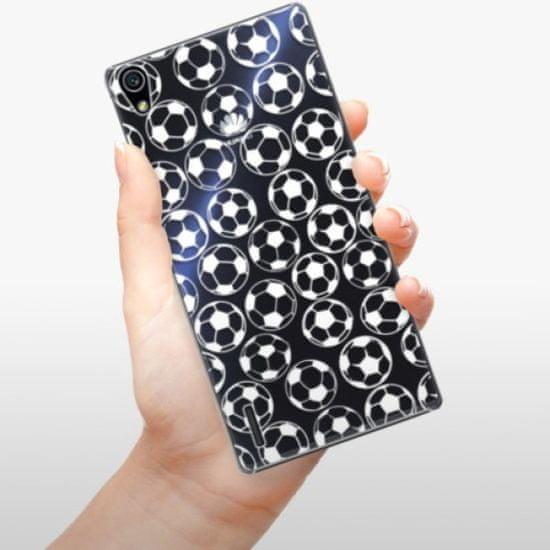 iSaprio Plastikowa obudowa - Football pattern - white na Huawei Ascend P7