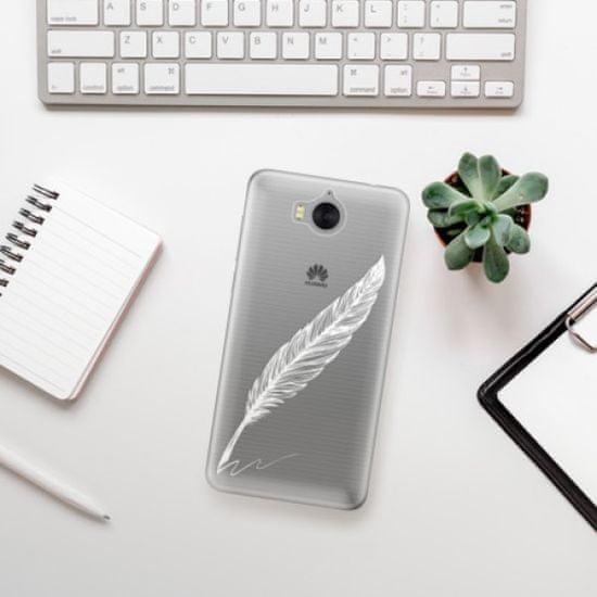 iSaprio Silikónové puzdro s motívom Writing By Feather - white