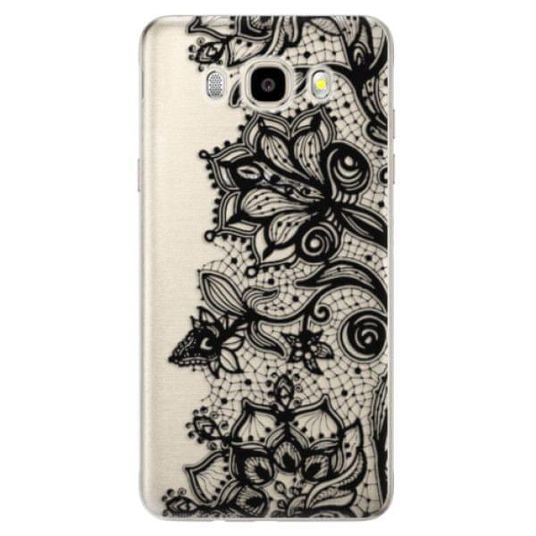 iSaprio Silikonové pouzdro - Black Lace pro Samsung Galaxy J5 (2016)