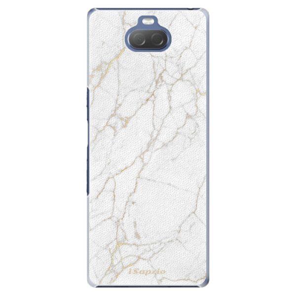 iSaprio Plastový kryt - GoldMarble 13 pro Sony Xperia 10