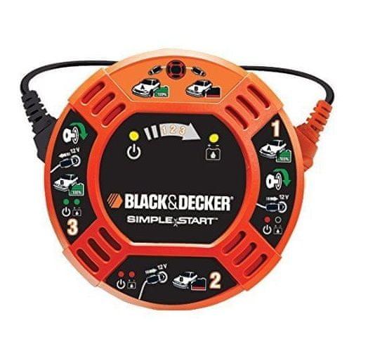 Black+Decker Startovací nabíječka do autozásuvky 12V - oranžová