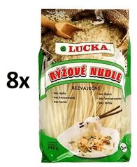 Lucka Nudle rýžové bezlepkové 7mm 8× 240 g