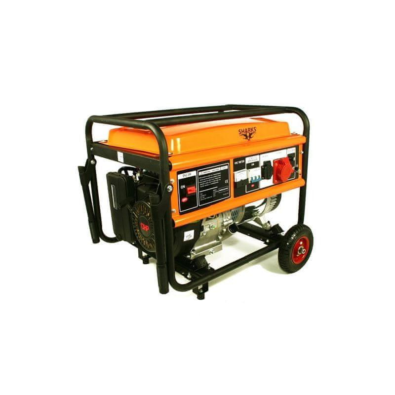 Sharks Benzínový generátor Sharks SH 6500-F