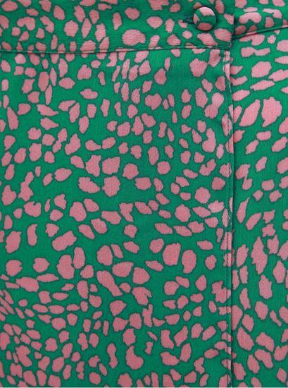 Miss Selfridge Petit zelená vzorovaná zavinovací sukně Miss Selfridge