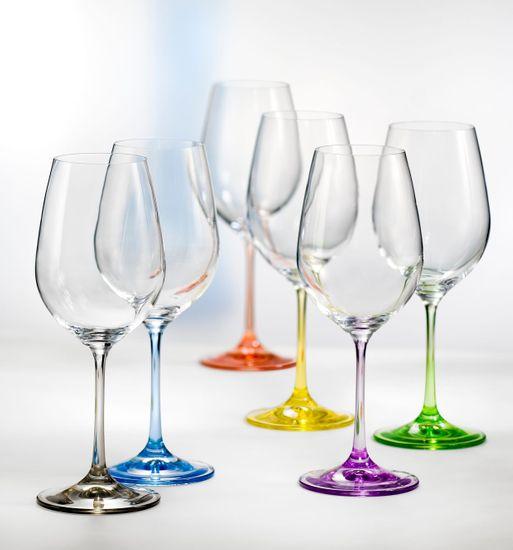 Crystalex RAINBOW sklenice 350 ml 6 ks