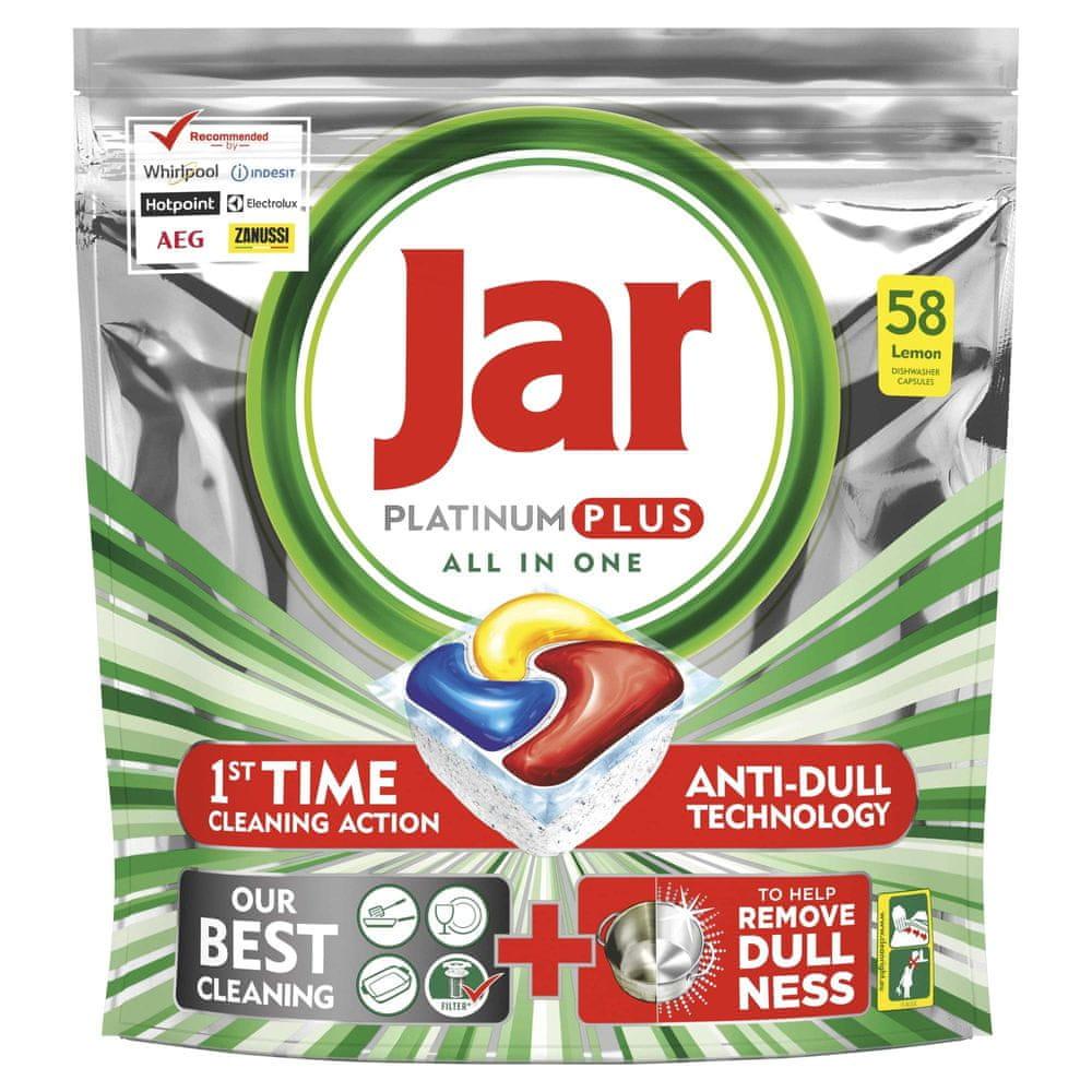 Jar Platinum Plus Lemon Kapsle do myčky 58 ks