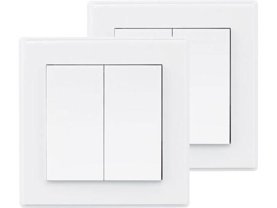 Extol Light Vypínač/ovladač, dvojitý, 2ks, 2jednotlivé/skupinové kanály
