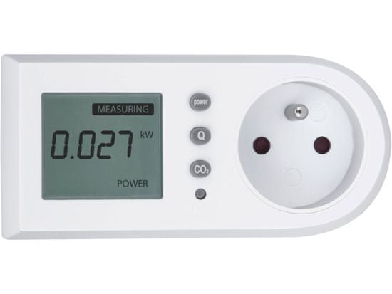 Extol Light Měřič spotřeby el. energie - wattmetr, měří kW, kWh, CO2
