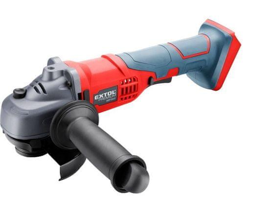 Extol Premium Bruska úhlová aku SHARE20V, 115mm, 20V Li-ion, bez baterie a nabíječky