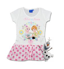 "SETINO Otroška obleka ""Frozen"" - bela - 122 / 6–7 let"