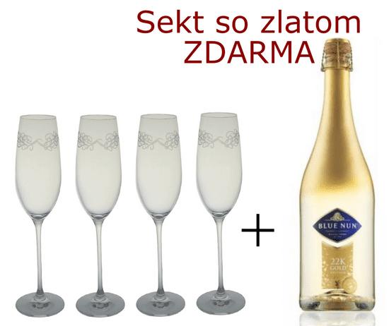 B. Bohemian 4 flauty Winnipeg 240 ml + Šumivé víno so zlatom ZDARMA