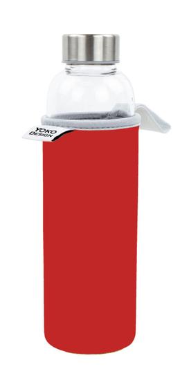 Yoko Design üveg palack neoprén tokban, 500 ml, piros
