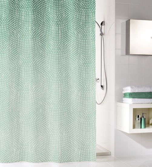 Kleine Wolke kopalniška zavesa Clipper, 180×200 cm, smaragdna