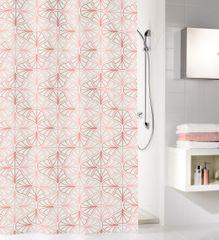 Kleine Wolke Zasłona łazienkowa Bloom, 180×200 cm, perłowa