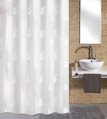Kleine Wolke Zasłona łazienkowa Canton, 180×200 cm, biała