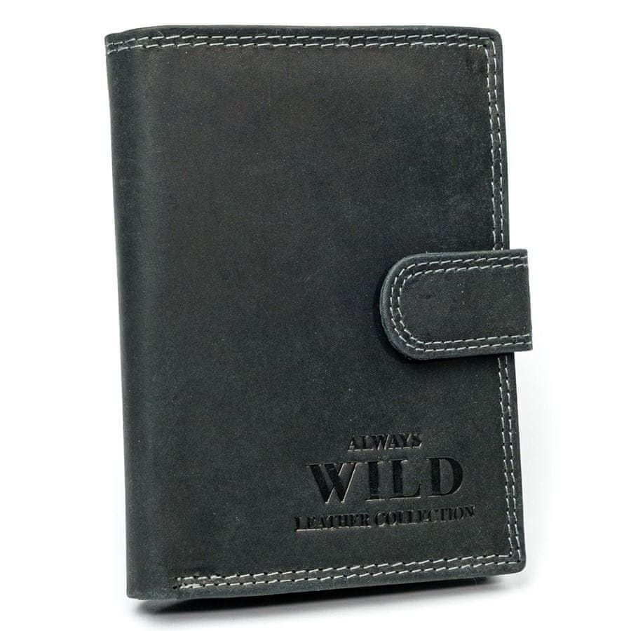 Always Wild Kožená pánská peněženka BOLEK černá