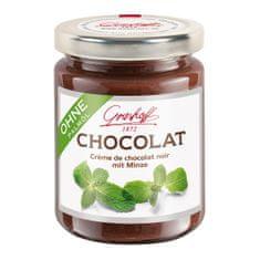 Grashoff Tmavý čokoládový krém s mátou, 250g