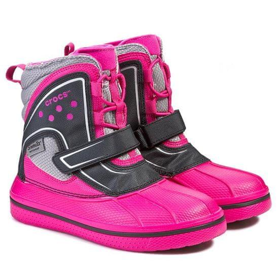 Crocs Allcast vízálló csizma, cukorka rózsaszín / fekete, C9 (26)