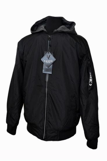 Vanzzi Férfi modern átmeneti kabát - fekete