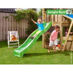 Jungle Gym Zelená plastová šmykľavka dlhá 220 cm