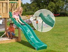 Jungle Gym Tmavě zelená plastová skluzavka dlouhá 265 cm.