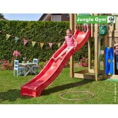 Jungle Gym Červená plastová šmykľavka dlhá 265 cm