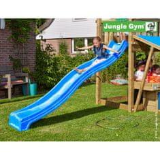 Jungle Gym Modrá plastová šmykľavka dlhá 265 cm