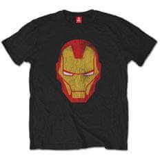 Tričko Iron Man - Distressed unisex černé