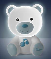 Chicco Nočné svetielko hudobné Medvedík modrá - rozbalené