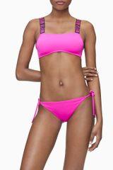 Calvin Klein Vrchní díl plavek KW0KW00911-TZ7 růžová - Calvin Klein růžová XS