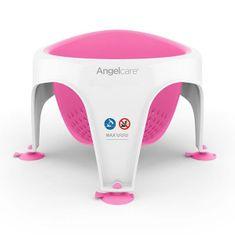 Angelcare kopalniški sedež, sedež za kopel, bel / roza