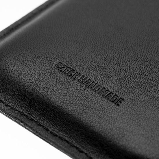 FIXED Tenké pouzdro Slim vyrobené z pravé kůže pro Apple iPhone 11 / XR FIXSLM-428-BK, černé