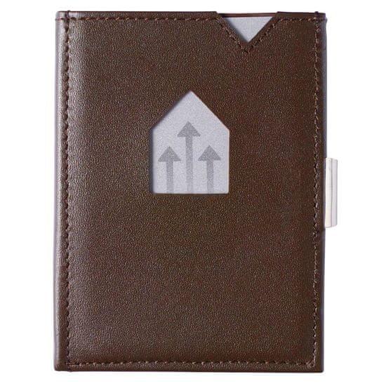 Exentri Hnědá minipeněženka na karty EXENTRI