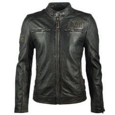 Gipsy Pánská černá kožená bunda Johny Cash