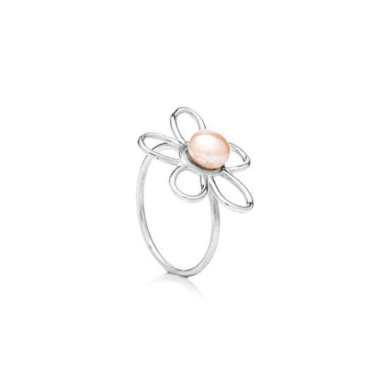 Buka Jewelry Buka prsten s perlou Bunga – růžová 419