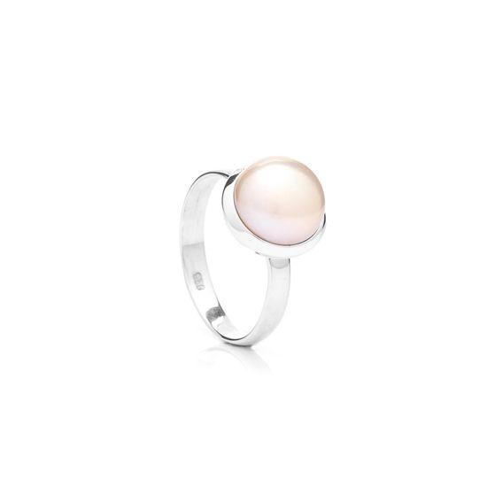 Buka Jewelry Buka prsten s perlou Buka – růžová 411