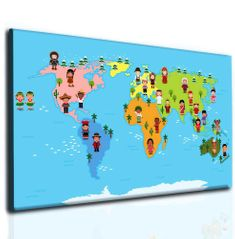 Světová mapa pro děti Velikost: 80x50 cm
