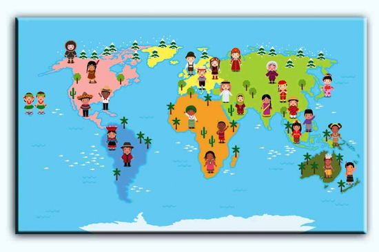 InSmile Světová mapa pro děti Velikost: 80x50 cm