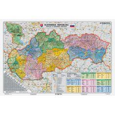 Stiefel Mapa Slovensko-Kraje a územné obvody