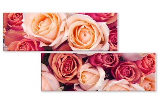 InSmile Atypický obraz růže Velikost (šířka x výška): 80x40 cm