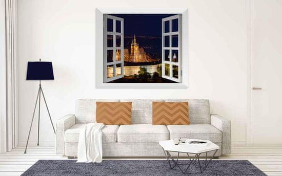 InSmile Obraz Praha za oknem Velikost: 100x80 cm