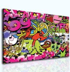 Obraz dívčí graffitti Velikost: 100x80 cm