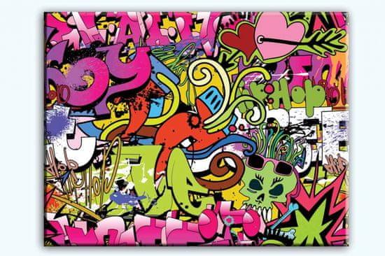 InSmile Obraz dívčí graffitti Velikost: 100x80 cm