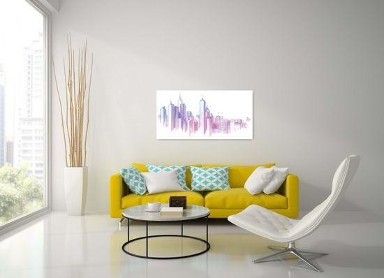 Dalenor Obraz New York skica mrakodrapov, 100x50 cm