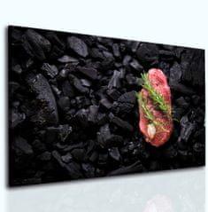 InSmile Obraz steak na uhlících Velikost: 90x60 cm